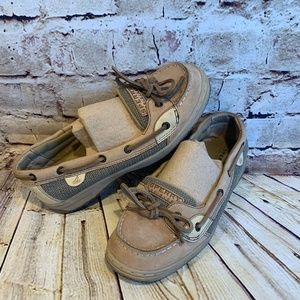 Sperry Top Sider Womens Leather Boat Shoes Size 5